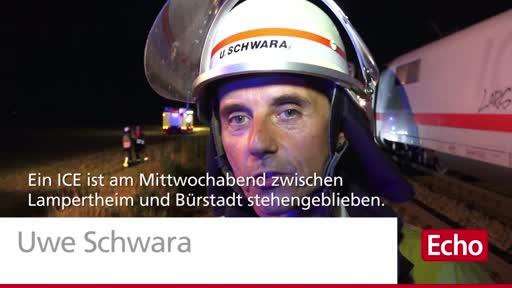 ICE bleibt bei Bürstadt liegen