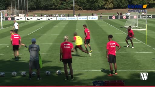 Eintracht: Training bei hitzigen Temperaturen