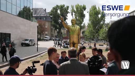 Reaktionen auf die Erdogan-Statue in Wiesbaden