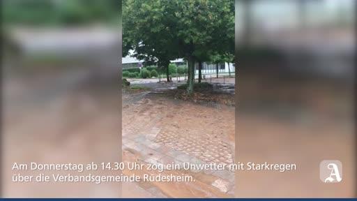 Unwetter hält Feuerwehr der VG Rüdesheim auf Trab