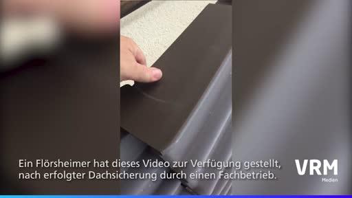 Flörsheim: Ärger über schlechte Dachklammerung