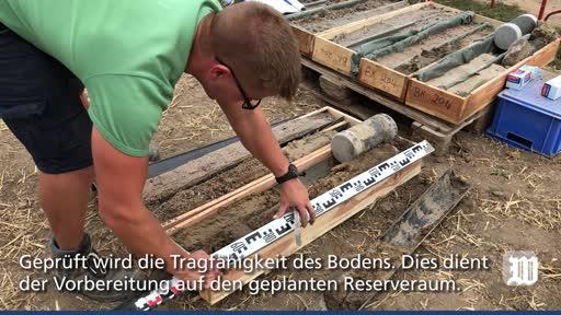 Guntersblum / Eich: Probebohrungen für besseren Hochwasserschutz