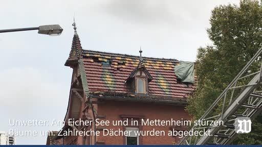 Unwetter in Mettenheim