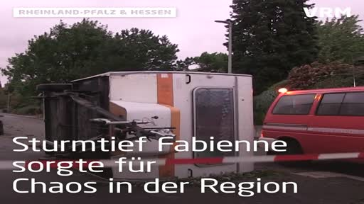 """Sturm """"Fabienne"""" wütet in der Region"""