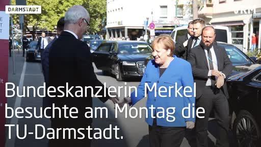 """Merkel an der TU: """"Darmstadt zeigt, dass Deutschland spitze sein kann!"""""""