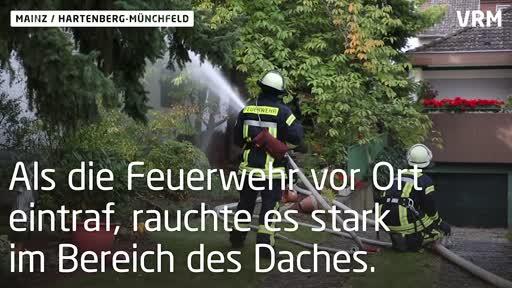 Wohnhausbrand im Mainzer Stadtteil Hartenberg-Münchfeld