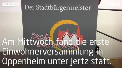 Oppenheim: Erste Einwohnerversammlung unter Bürgermeister Jertz