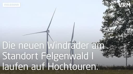 Zwei neue Windräder bei Michelstadt