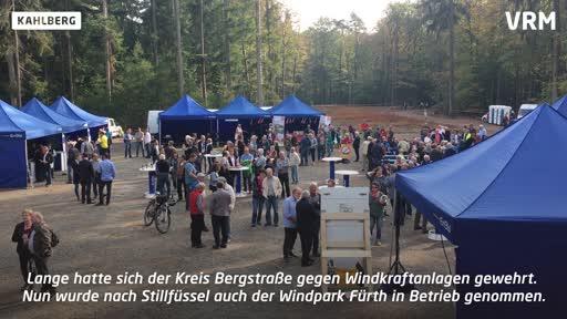 Inbetriebnahme des Windparks Fürth