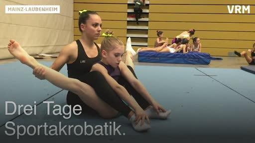 Sportakrobatik-Wettkampf in Laubenheim: Wir begleiten den KKSV Mainz-Finthen