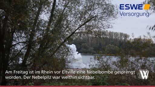 Nebelbombe bei Eltville gesprengt