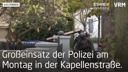 Wiesbaden: SEK-Einsatz in der Kapellenstraße