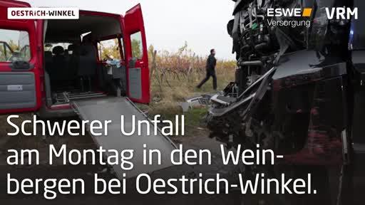 Oestrich-Winkel: Schwerer Unfall in den Weinbergen