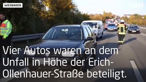 Wiesbaden: Verletzte bei Unfall auf der A643